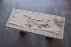 Hand carved bench (photo courtesy of Jay Misencik)